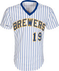 Baseball Collectibles:Uniforms, 1987 Robin Yount Game Worn Milwaukee Brewers Jersey, MEARS A9. ...