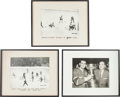 Hockey Collectibles:Photos, 1950's Maurice Richard Original Oversized Photographs Lot of 3 -From Richard Collection....