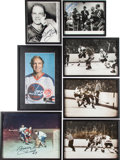 Hockey Collectibles:Photos, Bobby Hull Original Wire Photographs and Original Photographs Lotof 20, Some Signed - Once Owned by Hull....