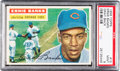 Baseball Cards:Singles (1950-1959), 1956 Topps Ernie Banks, Gray Back #15 PSA Mint 9 - Pop Four, NoneHigher. ...