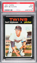 Baseball Cards:Singles (1970-Now), 1971 Topps Bert Blyleven #26 PSA Mint 9 - Only One Higher. ...