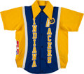 Basketball Collectibles:Uniforms, 1981-82 Louis Orr Game Worn Indiana Pacers Warmup Jacket....