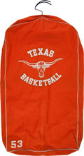 Basketball Collectibles:Uniforms, Circa 1980's Texas Longhorns Basketball Hanging Garment Bag....