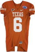Football Collectibles:Uniforms, 2007 Quan Cosby Game Worn Texas Longhorns Holiday Bowl Jersey....