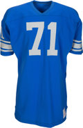 Football Collectibles:Uniforms, 1970 Alex Karras Game Issued Detroit Lions Jersey....
