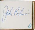 Baseball Collectibles:Others, 1970's Sporting & Entertainment Greats Signed Autograph Albums with Alfred Hitchcock, Jackie Robinson, Bobby Fischer & More. ...