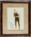 Boxing Collectibles:Memorabilia, 1920's Harry Greb Signed Photograph to Leading Pittsburgh Boxing Promoter....