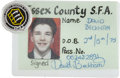 Miscellaneous Collectibles:General, Early 1990's David Beckham Signed Youth Football (Soccer)Identification Card, Featured in The Daily Mirror....