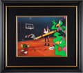 Basketball Collectibles:Others, 1993 Michael Jordan Signed Space Jam Animation Cel.. ...