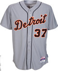 Baseball Collectibles:Uniforms, 2013 Max Scherzer Game Worn Detroit Tigers Jersey....