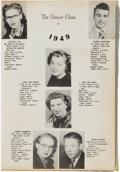 Baseball Collectibles:Others, 1949 Mickey Mantle Commerce (OK) High School Yearbook....