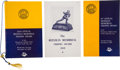 Football Collectibles:Programs, 1949-53 Heisman Memorial Trophy Award Presentation Programs Lot of 3 Signed by the Winner from Notre Dame. ...