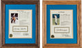 Baseball Collectibles:Others, Early 1990's Baseball Hall of Famers Signed Stat Sheets Lot of7....