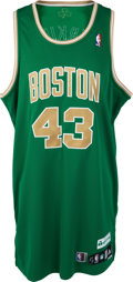 Basketball Collectibles:Uniforms, 2010-11 Kendrick Perkins Game Worn Boston Celtics St. Patrick's DayJersey....