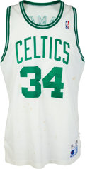 Basketball Collectibles:Uniforms, 1990-91 Kevin Gamble Game Worn Boston Celtics Jersey....