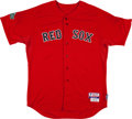 Baseball Collectibles:Uniforms, 2012 Carl Crawford Game Worn Boston Red Sox Jersey with MLB Hologram. ...