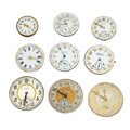 Timepieces:Other , Nine Miscellaneous Movements. ... (Total: 9 Items)