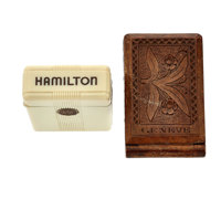 Hamilton Box and Wooden Watch Case