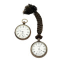 Timepieces:Pocket (pre 1900) , Elgin Key Wind, Waltham Bartlett, 18 Size Coin Silver Watches. ...(Total: 2 Items)