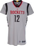 Basketball Collectibles:Uniforms, 2015-16 Dwight Howard Game Worn, Unwashed Houston Rockets AlternateGray Jersey from March 5, 2016 Game with Video of Howard ...