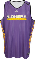 Basketball Collectibles:Uniforms, 2011 Kobe Bryant Practice Worn Los Angeles Lakers Jersey. ...