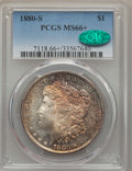 Morgan Dollars: , 1880-S $1 MS66+ PCGS. CAC. PCGS Population: (11131/2560 and 516/336+). NGC Census: (11798/3539 and 342/128+). MS66. Mintage...