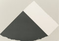 Prints:Contemporary, Ellsworth Kelly (1923-2015). Dark Gray and White, 1979.Screenprint and collage on Rives paper support. 30 x 42 inches (...