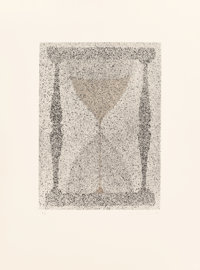Ed Ruscha (b. 1937) Reloj de Arena, 1988 Etching in colors on wove paper 18-1/4 x 13-1/8 inches (