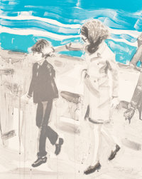 Elizabeth Peyton (b. 1965) Jackie and John, 2000 Lithograph in colors on wove paper 24 x 19 inche