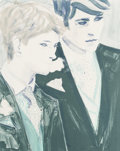Prints, Elizabeth Peyton (b. 1965). Prince Harry and Prince William, 2000. Lithograph in colors on wove paper. 24 x 19 inches (6...