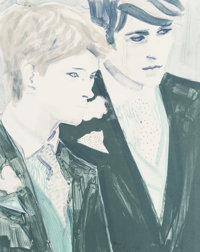 Elizabeth Peyton (b. 1965) Prince Harry and Prince William, 2000 Lithograph in colors on wove paper<