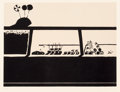 Prints:Contemporary, Wayne Thiebaud (b. 1920). Candy Counter, from SevenStill-Lifes and a Rabbit, 1970. Linocut in black and tan onArch...