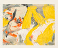 Post-War & Contemporary:Abstract Expressionism, Willem de Kooning (1904-1997). Man and the Big Blond, 1982.Offset lithograph in colors on wove paper. 21-1/4 x 27 inche...