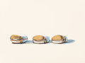 Prints:Contemporary, Wayne Thiebaud (b. 1920). Barbecue Beefs, from SevenStill-Lifes and a Silver Landscape, 1970. Screenprint incolors...