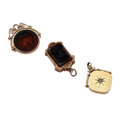 Timepieces:Other , Three Vintage Gold Filled Fobs. ... (Total: 3 Items)
