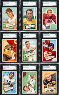 Football Cards:Sets, 1952 Bowman Large Football Low Numbers (#1-72) Complete Run (72). ...