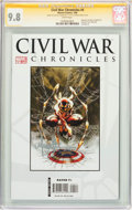 Modern Age (1980-Present):Superhero, Civil War Chronicles #4 Signature Series (Marvel, 2008) CGC NM/MT 9.8 White pages....