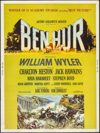 "Ben-Hur (MGM, 1960). Poster (30"" X 40""). Style Z. Academy Award Style. Historical Drama"