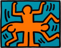 Keith Haring (1958-1990) Untitled, from the Pop Shop VI series, 1989 Screenprint in color