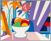 Tom Wesselmann (1931-2004) Still Life with Lilies and Mixed Fruit, 1998 Screenprint in colors 23-