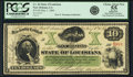 Obsoletes By State:Louisiana, New Orleans, LA - State of Louisiana $10 May 1, 1866 Cr. 26. PCGS Choice About New 55 Apparent.. ...