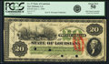 Obsoletes By State:Louisiana, New Orleans, LA - State of Louisiana $20 June 1, 1866 Cr. 27. PCGS About New 50.. ...