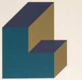 Prints, Sol LeWitt (1928-2007). Forms Derived from a Cube (11), 1991. Screenprint in colors on Somerset paper. 30 x 30 inches (7...