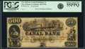 Obsoletes By State:Louisiana, New Orleans, LA - New Orleans Canal and Banking Company $500 18__ LA-105 G70a. Remainder. PCGS Choice About New 55PPQ.. ...