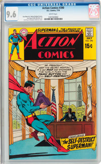 Action Comics #390 (DC, 1970) CGC NM+ 9.6 White pages