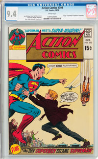 Action Comics #393 (DC, 1970) CGC NM 9.4 White pages