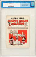 Platinum Age (1897-1937):Miscellaneous, Mickey Mouse Magazine Dairy Giveaway V1#1 (Walt Disney Productions,1933) CGC VF/NM 9.0 White pages.... (Total: 2 Items)
