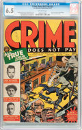 Golden Age (1938-1955):Crime, Crime Does Not Pay #23 (Lev Gleason, 1942) CGC FN+ 6.5 Off-white pages....