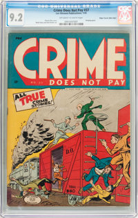 Crime Does Not Pay #37 Mile High Pedigree (Lev Gleason, 1945) CGC NM- 9.2 Off-white to white pages