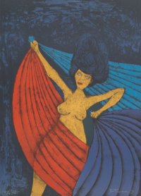 Rufino Tamayo (1899-1991) Salomé, 1984 Lithograph in colors on wove paper 29-7/8 x 21-3/4 inches